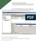 Windows 2008 server configuration