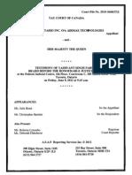 AirMax vs HMQ Transcript