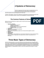 Different Systems of Democracy
