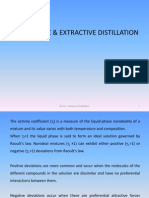 Extractive & Azeotropic Distillation