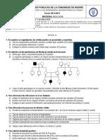 Examen Biología Selectividad Madrid Junio 2013
