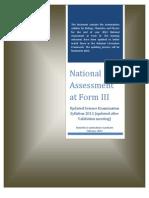 Syllabus Sciences Form III 2012