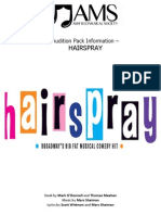 Hairspray Audition Pack