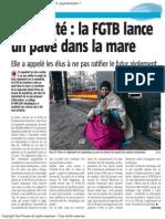 La Nouvelle Gazette - Mendicité la FGTB lance un pavé dans la marre - 07.06.13