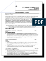 on - Resume - Sr Mgt Exec 042009