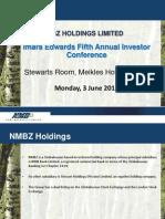 NMBZ Imara Investment Conference Presentation June 2013