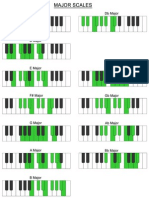Piano Roll - Major Scales - For PRINTING