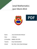 Additional Mathematics Project Work 2013