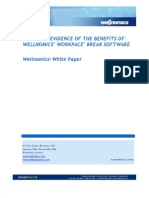 Wellnomics White Paper - Scientific Evidence of the Benefits of Wellnomics WorkPace Break Software - May 2006