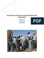 Excavations at Utica by the Tunisian-British Utica Project 2012 (E. Fentress, F. Ghozzi, J. Quinn, and A. Wilson)
