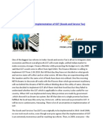 Uncertainties in Implementation of GST (Goods and Service Tax) | GST