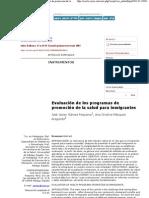 Index de Enfermería - Evaluación de los programas de promoción de la salud para inmigrantes
