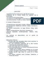 HISTORIA DE LA MÚSICA CLÁSICA. UNIDAD I