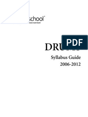 Rockschool Drums Syllabus pdf | Drum Kit | Test (Assessment)