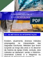 02 - A HERMENÊUTICA E A ESCATOLOGIA
