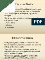 Efficiency of Banks