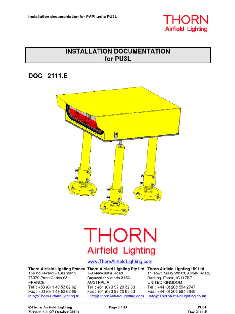 sc 1 st  Scribd & THORN PAPI Lights Installation Manual | Switch | Relay