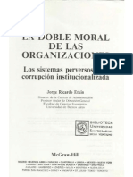 115130914 La Doble Moral de Las Organizaciones de Jorge Etkin