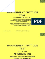 Management Aptitude Test 17 Nov