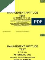 Management Aptitude Test 5 Nov II