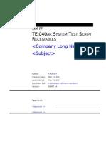 TE040 Test Script AR