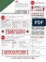 JUMPSTART TO SKINNY Diet Cheat Sheet