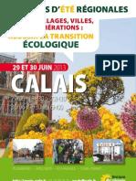 Les Journées d'Eté de Calais ... avec les écologistes