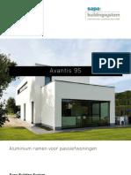 Avantis 95 aluminium ramen voor passiefhuizen - Sapa Building System