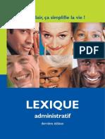 Lexique Des Termes Administratifs