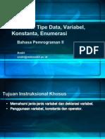 04 Tipe Data Variabel Konstanta Enumerasi