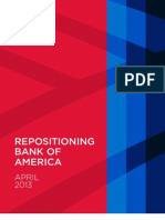 Category Work Report, Bank of America Repositioning, April 2013