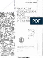 Manual of Standards for Blood Collection Units in the Philippines