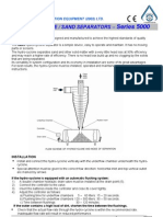 Series 5000 User Manual Hydrocyclone & Sand Separators