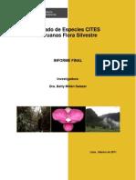 Listado de Especies CITES Peruanas Flora Silvestre