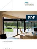Confort 125 aluminium schuif- en hefschuifdeuren - Sapa Building System