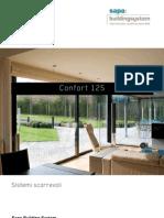 Confort 125 sistema di finestre scorrevoli ad alte prestazioni - Sapa Building System