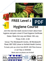 Food Hygiene Horfield Poster July