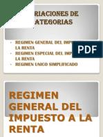Variaciones de Categorias