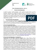 Edital Tecnico de Enfermagem 2013 41 Hrc