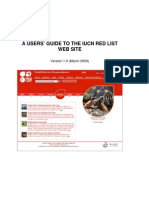Redlist Website Users Guide