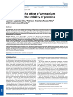Evaluation of the effect of ammonium carbamate on the stability of proteins