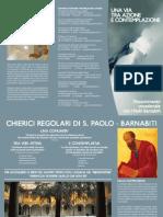 volantino-vocazione dei pp. Barnabiti