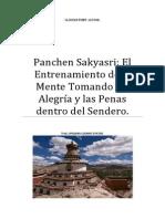Panchen Sakyasri Entrenamiento de La Mente