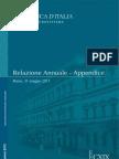 Appendice statistica alla Relazione Bankitalia sull'economia italiana del 31-05-2013