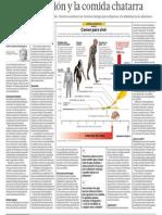 La Evolucion Humano y Comida Chatarra