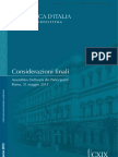 Considerazioni Finali Governatore Banca Italia 31-05-2013