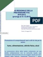 Nora Coppola - Piano Regionale della prevenzione FVG