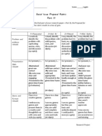 Proposal PART III Paper Rubric