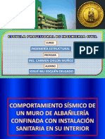 COMPORTAMIENTO SÍSMICO DE UN MURO DE ALBAÑILERÍA CONFINADA