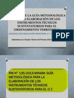 Análisis de la Guía Metodológica para la elaboración de los instrumentos técnicos sustentatorios para el Ordenamiento Territorial